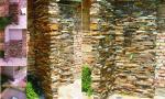 Kamenny obklad zahradni sprchy, Mikulov